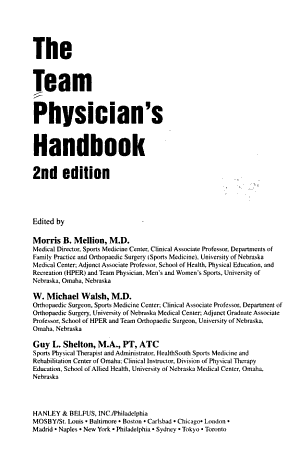 The Team Physician s Handbook