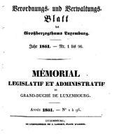 Mémorial du Grand-Duché de Luxembourg: 1851