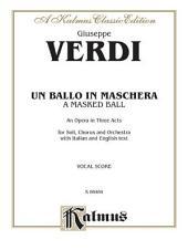 Un Ballo in Maschera: Vocal (Opera) Score