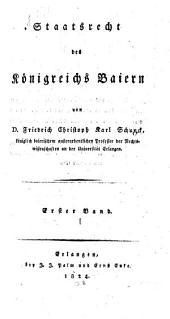 Staatsrecht des Königreichs Baiern: 1