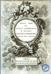 Delle lodi di Maria Clementina d'Austria principessa ereditaria delle Due Sicilie prosa di Carlantonio di Rosa de Marchesi di Villarosa