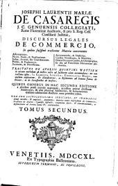 Discursus legales de commercio: Volume 2
