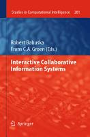 Interactive Collaborative Information Systems PDF
