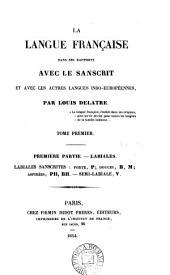 La langue française dans ses rapports avec le sanscrit et avec les autres langues indo-européennes