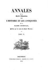 Annales de la Société d'Emulation de Bruges: Volume 4