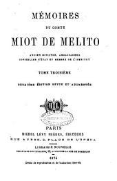 Mémoires du comte Miot de Mélito: Volume3
