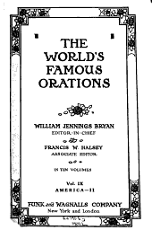The World's Famous Orations: Volume 9