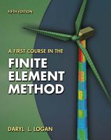 A First Course in the Finite Element Method PDF