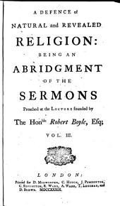 Boyle Lectures: Abridged, in Four V.], Volume 3