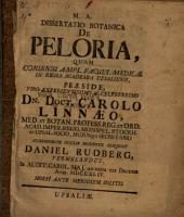 Dissertatio botanica de Peloria