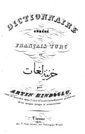 Dictionnaire abrégé turc-franc̦ais