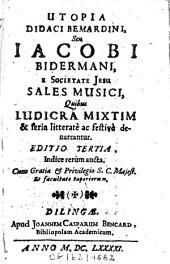Utopia Didaci Bemardini: seu ... Sales musici
