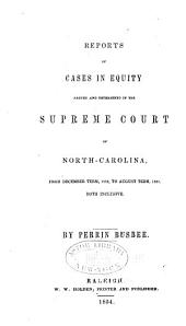 Cases at Law Argued and Determined in the Supreme Court of North Carolina