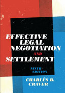 Effective Legal Negotiation and Settlement PDF