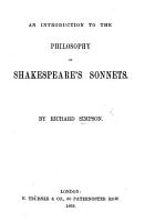 An Introduction to the philosophy of Shakespeare s Sonnets PDF