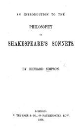 An Introduction to the philosophy of Shakespeare's Sonnets