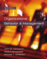 Organizational Behavior and Management PDF