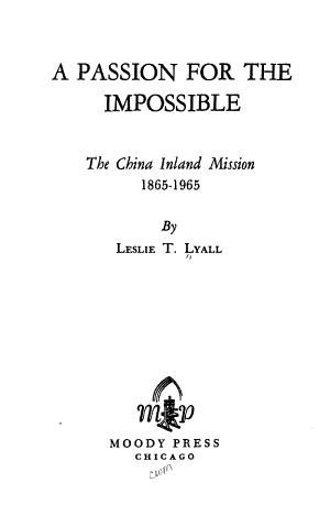 A Passion for the Impossible PDF