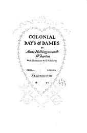 Colonial Days and Dames