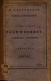 H. Pieterson's Geslachtlijst der zelfstandige naamwoorden: Volume 1