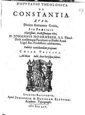 De constantia