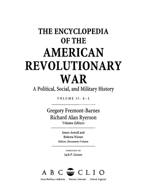 The Encyclopedia of the American Revolutionary War PDF