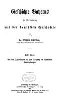 Geschichte Bayerns in Verbindung mit der deutschen Geschichte PDF