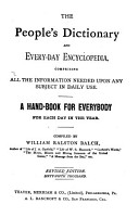 The People s Dictionary and Every day Encyclopedia PDF