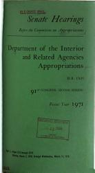 Department of the Interior and Related Agencies Appropriations for Fiscal Year 1971 PDF