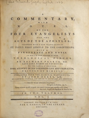 A Commentary  with Notes  on the Four Evangelists and the Acts of the Apostles PDF