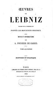 Œuvres de Leibniz: Volume4