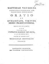 Oratio de hvmanitate, virtvte medici praestantissima