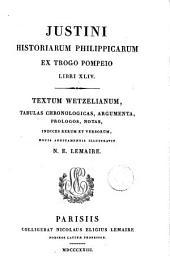 Justini Historiarum Philippicarum ex Trogo Pompeio libri XLIV