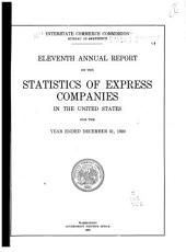 Report on the Statistics of Express Companies in the United States