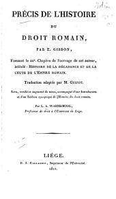 Précis de l'histoire du droit romain