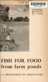 Farmers' Bulletin: Issue 1938