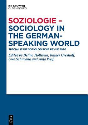 Soziologie   Sociology in the German Speaking World PDF