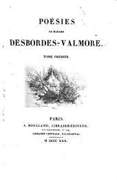 Poésies de Madame Desbordes-Valmore: Volume1
