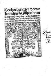 Das Buch der Sünden des Munds: die er nennt die Blatren am Mund davon er XXIX Predigen und Leeren gethon hat, Band 2