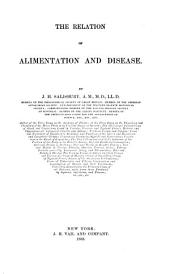 The Relation of Alimentation and Disease