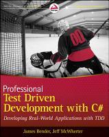 Professional Test Driven Development with C  PDF
