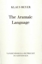 The Aramaic Language, Its Distribution and Subdivisions