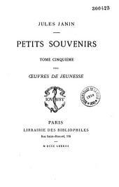 OEuvres de jeunesse de Jules Janin