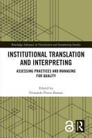 Institutional Translation and Interpreting PDF