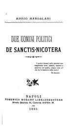Due uomini politici: De Sanctis - Nicotera