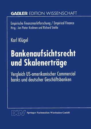 Bankenaufsichtsrecht und Skalenertr  ge PDF