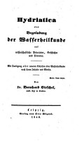 Hydriatica oder Begr  ndung der Wasserheilkunde auf wissenschaftliche Principien  Geschichte und Literatur PDF