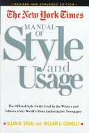 The New York Times Manual of Style and Usage