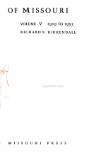 A History of Missouri  1919 to 1953  by Richard S  Kirkendall PDF