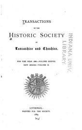 Transactions of the Historic Society of Lancashire and Cheshire: Volume 38